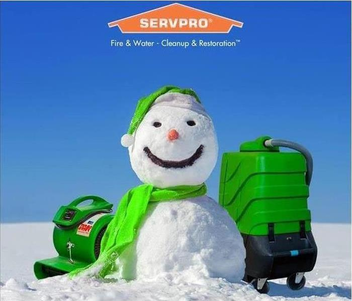 snowman with SERVPRO equipment